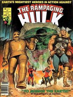 Rampaging Hulk #9 - Awesome cover! Rampaging Hulk was a magazine sized b&w comic. Fantastic stories and art.