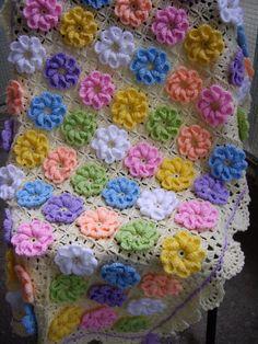 Abuela cuadrados ganchillo manta de cuna de bebé por GalyaKireva