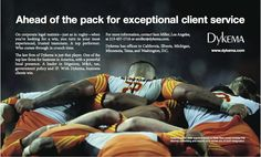 Great #lawfirm ad --ahead of the pack for exceptional #rugby #rugby sevens