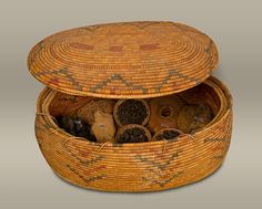 Large Oval Storage Basket. New Kingdom, 18th Dynasty, reign of Thutmose II - Early Joint Reign, ca. 1492-1473 B.C.