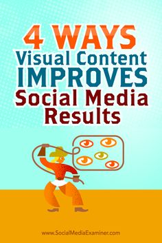 Want better engagement for your social media campaigns?  Using visual content to support your messaging makes it easier to grab your audience's attention.  In this article, you'll discover how visual content can support your social media marketing. Via @smexaminer.