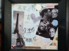 Gift for Johnny...Framed Scrapbook page.