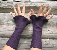wrist warmers  felted arm warmers  holiday fashion    by vilnone