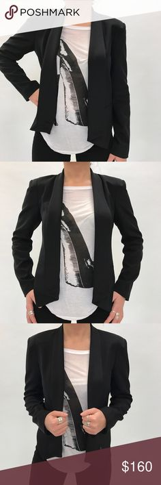 REBECCA MINKOFF Becky Jacket Perfect versatile item! Wear this to work to look professional. Wear it to lunch with your friends paired with a graphic tee. Or wear it out at night with pumps and a clutch. A staple piece for your closet. Available in sizes 0-8. Rebecca Minkoff Jackets & Coats Blazers