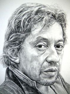 Pencil Portraits - Serge Gainsbourg - Discover The Secrets Of Drawing Realistic Pencil Portraits.Let Me Show You How You Too Can Draw Realistic Pencil Portraits With My Truly Step-by-Step Guide. Portrait Au Crayon, Pencil Portrait, Serge Gainsbourg, Drawing Heads, Painting & Drawing, Realistic Pencil Drawings, Art Drawings, Realistic Rose, Portrait Illustration