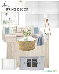 Country Home Decor 2020 Spring Decorating Ideas & Design Boards / So excited to give our den a nice refresh with spring decor! Home Decor 2020 Spring Decorating Ideas & Design Boards / So excited to give our den a nice refresh with spring decor! Farmhouse Design, Farmhouse Decor, Beautiful Home Gardens, Blogger Home, Casual Living Rooms, Casual Decor, Spring Home Decor, How To Make Pillows, Dining Room Design