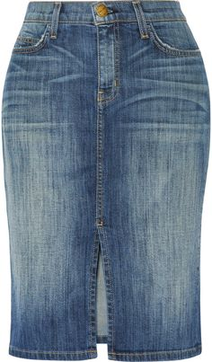 Current/Elliott The Highwaist Pencil denim skirt