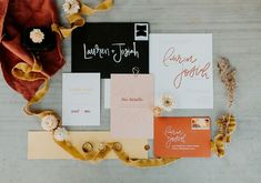 Tangerine, blush, and black wedding stationery | Image by Peyton Rainey Photography Wedding Favours Luxury, Wedding Stationery, Wedding Blog, Fall Wedding, Wedding Planner, Our Wedding, Wedding Invitations, Oklahoma Wedding, Invitation Design