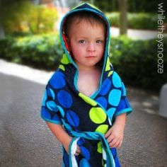 Sew a simple summer robe using a beach towel and a downloadable PDF pattern.