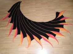 scarf with flames