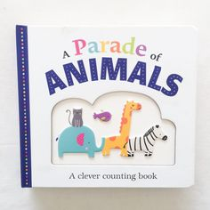 A Parade Of Animals is one if the most delightful children's books that we own! Book Club Books, Children's Books, For All Things Lovely, Counting Books, Owl, Blog, Animals, Animales, Animaux