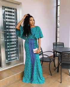 The complete pictures of latest ankara long gown styles of 2018 you've been searching for. These long ankara gown styles of 2018 are beautiful African Dresses For Women, African Print Dresses, African Print Fashion, African Attire, African Fashion Dresses, African Outfits, Ankara Fashion, African Wear, African Prints