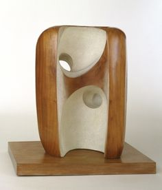 Barbara Hepworth (1903–1975, Britain), Hollow Form, 1955–1956. Lagos wood, partly painted, 90 x 66 x 65 cm without base. Museum of Modern Art, New York. © 2012 Estate of Barbara Hepworth. (MOMA-S1027)