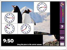 """Puzzle pics clocks"" (Juego de Medida del Tiempo de Primaria) Bingo, 2 In, Puzzles, Baseball Cards, Workout, Maths Area, Teaching Resources, Learning, Games"