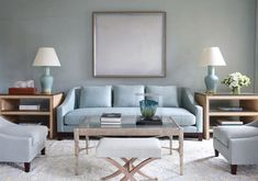 Tobi Fairley's Leawood project living room.  Serene and beautiful!
