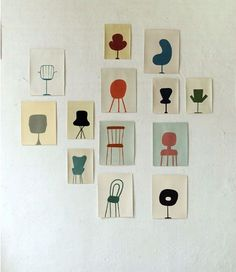 Minimalist Art 331718328781922481 - I'm sure it's just because I've been living, eating and breathing gallery frames for years, but I really want to see these prints in mats. Source by nolwennrouchet Gravure Illustration, Illustration Art, Chair Drawing, Gallery Frames, Grafik Design, Oeuvre D'art, Art Inspo, Collages, Collage Art