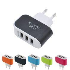 GETIHU 3 포트 USB 충전기 3A 휴대용 휴대 전화 충전기 여행 usb 벽 충전기 iphone samsung lg huawei xiaomi meizu
