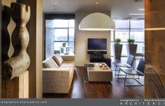 Wnętrze apartamentu. Salon. Projekt i realizacja: lengiewicz-charkiewicz.com (fotografia: Aleksander Rutkowski)