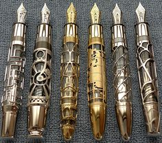 Very steampunk-looking, plus I love fountain pens (if that's what they indeed are). Very much want.