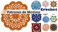 17 PATRONES DE MOTIVOS en CROCHET - Descarga gratis - Manualidades Y DIYManualidades Y DIY