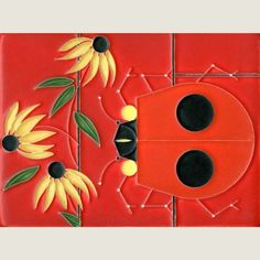 Charley Harper by Motawi. 6x8 Bugs that Bug Nobody