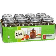 Ball Canning Jar Regular Mouth with Lid (1x12 Ct)