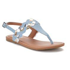 Keep up with the trends when you wear these adorable multi-braid sandals from SO. Kids Sandals, Blue Sandals, Ladies Sandals, Women Sandals, Cute Shoes Flats, Kid Shoes, Header, Mango Shoes, African Attire For Men