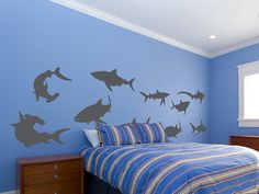 Hey, I found this really awesome Etsy listing at http://www.etsy.com/listing/118098427/sharks-vinyl-wall-decal-set