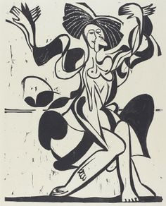 Kirchner, Ernst Ludwig  German, 1880 - 1938  Mary Wigman's Dance (Mary Wigman-Tanz) 1933