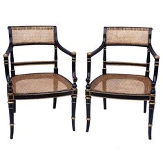 directoire style armchairs - france - c1950 - LENGTH: 	22.83 in. (58 cm) DEPTH: 	19.69 in. (50 cm) HEIGHT: 	31.5 in. (80 cm)
