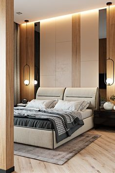 A Sophisticated Modern Family Home with Two Inspiring Kids Bedrooms Master Bedroom Interior, Modern Bedroom Design, Master Bedroom Design, Modern House Design, Kids Bedroom, Bedroom Decor, Warm Bedroom, Modern Bedrooms, Bedroom Signs