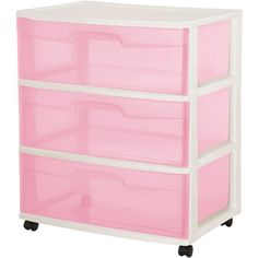Sterilite 3-Drawer Wide Cart Rose Tint  sc 1 st  Pinterest & 34 best Storage images on Pinterest | Organization ideas Organizing ...