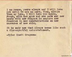 Tyler Knott Gregson - the type writer poet - love his work  http://tylerknott.com/