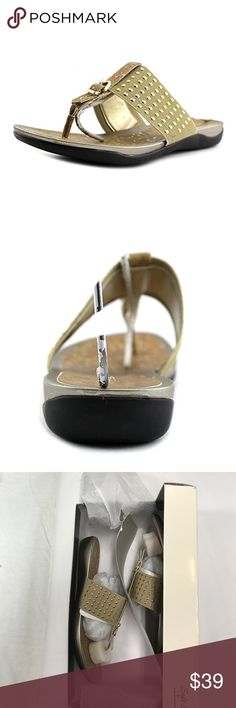 """Rini Sandals by Soft Style canvas Fabric sole The style name is Rini. The style number is RINI-natural Brand Color: Black (Main Color: Natural ) Material: Canvas Measurements: 1"""" heel Hush Puppies Shoes Sandals"""