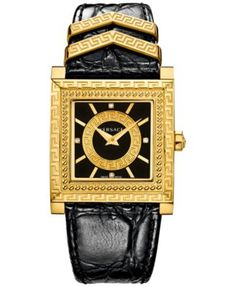 Check out new Versace glamorous line of Women's fashion Watches. Enjoy your time with a luxury watch, available on the Versace US Online Store. Cute Watches, Casual Watches, Black Watches, Versace Jewelry, Jewellery, Versace Men, Versace Watches, Black Jewelry, Fashion Watches