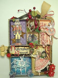 This altered printer tray is all decked out in Nutcracker Sweet from #Graphic 45.