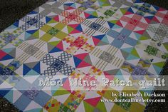 New quilt tutorial - Mod Nine Patch quilt! by Don't Call Me Betsy, via Flickr