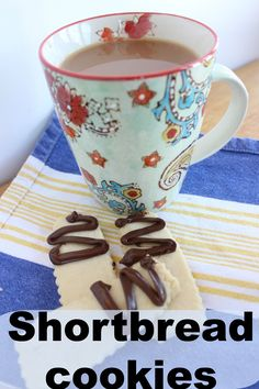 Shortbread cookies – scratch recipe with 4 ingredients!  Easy, and they taste so good!