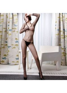 $23.49  Hot Black Polyester Mesh Pantyhose   206055