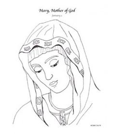 Mary Mother Of God Catholic Coloring Page January 1st