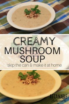 This cream of mushroom soup recipe is easy to make and home, and a good stand in for recipes that call for canned creamy mushroom soup.