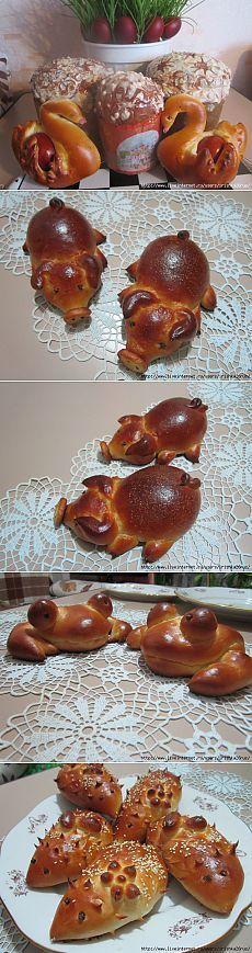 Красивая фигурная выпечка (!!!) (много, красиво, необычно). This sight has amazing pictures of shaped bread!!
