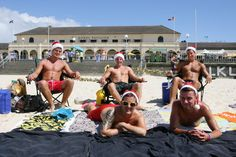 Australians Celebrate Christmas At Bondi Beach