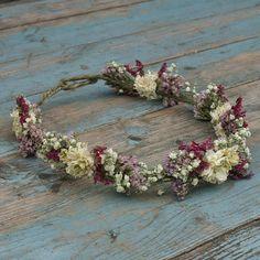 Boho Berry getrocknete Blume Haarkrone