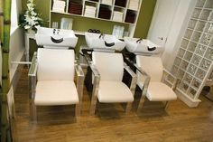 Small Hair Salon Design Ideas | Classic but Contemporary Salon Design at Andrea and Achille Hair Group ...