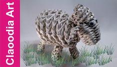 Baranek, owieczka z papierowej wikliny (lamb, sheep, wicker paper)