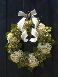 Spring Hydrangeas Front Door Wreaths Traditional Wreaths by bndd, $95.00 House Front Door, Front Door Decor, Wreaths For Front Door, Square Wreath, Outdoor Wreaths, Summer Wreath, Spring Wreaths, Hydrangea Wreath, Holiday Wreaths