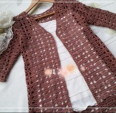 Knitted Jacket Openwork Crochet