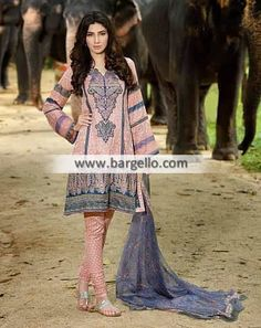 WL8455 Casual Summer Dresses Umer Sayeed Lawn 2015 - UK USA Canada Australia Saudi Arabia Bahrain Kuwait Norway Sweden New Zealand Austria Switzerland Germany Denmark France Ireland Mauritius and Netherlands
