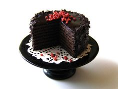 Chocolate Cake Miniature in 1 12 by Erzsébet Bodzás IGMA Artisan